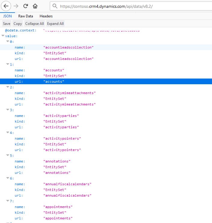 Om ni surfar till grund-URL för Web API så får man upp något som liknar detta