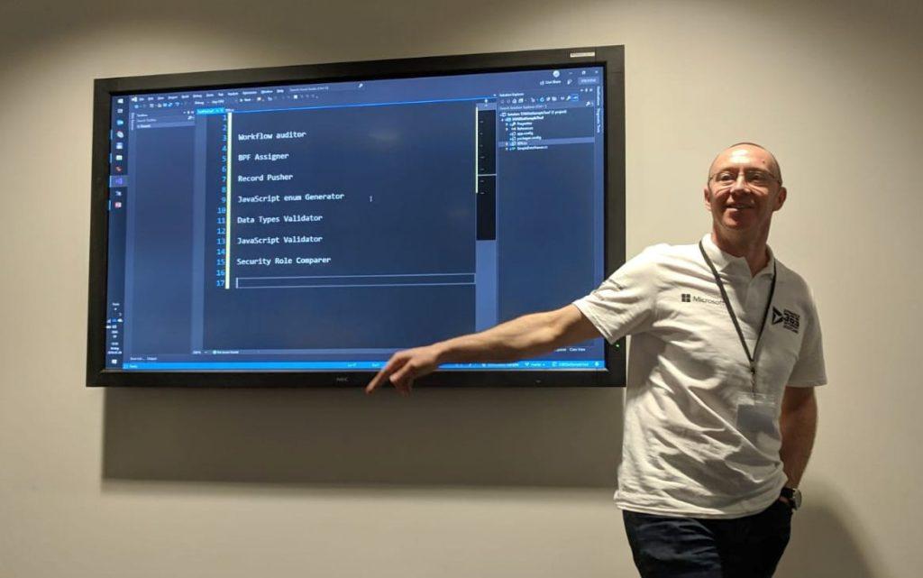 Jonas Rapp creating XrmToolBox tools at D365 Saturdays